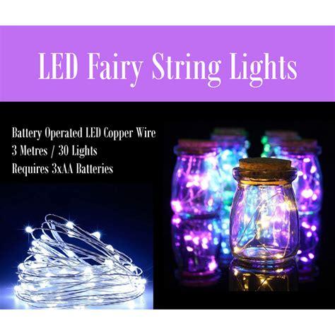 Led Fairy String Lights 3 Metres 30 Lights 1 Jopaz String Lights Sydney
