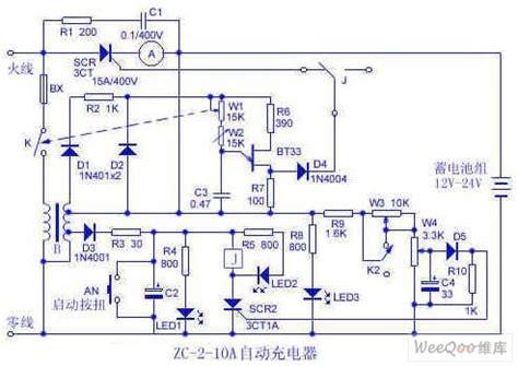 12v 10a battery charger circuit diagram 12v 24v battery automatic charger circuit basic circuit