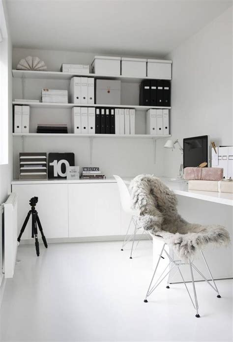 white home office 37 stylish super minimalist home office designs digsdigs