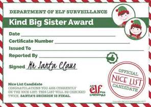 Christmas Reward Chart   Printable Certificate   Elf For