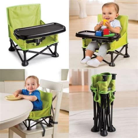 travel high chair with tray baby booster seat infant portable folding feeding