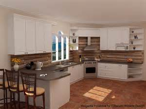 Wood Kitchen Backsplash Slate Countertops Brick Floor In The Kitchen Google