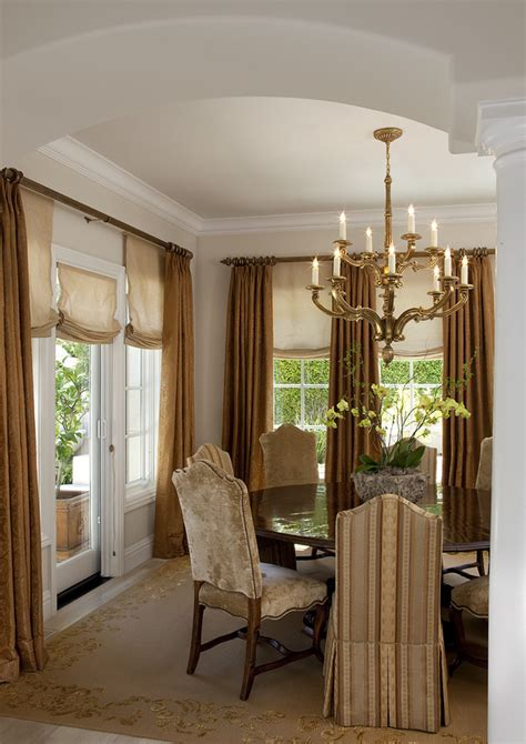 Dining Room Window Curtains Decor Gorgeous Blinds For Doors Technique San Francisco Traditional Dining Room Remodeling