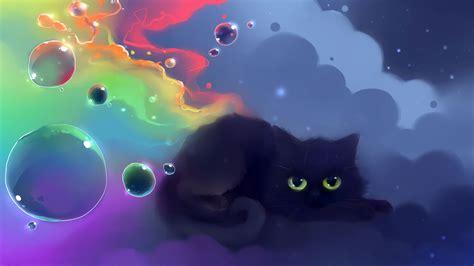 wallpaper cute anime cat black cat anime wallpaper wallpapersafari