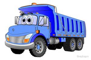Wall Stickers Bedroom quot blue dump truck 3 axle cartoon quot posters by graphxpro