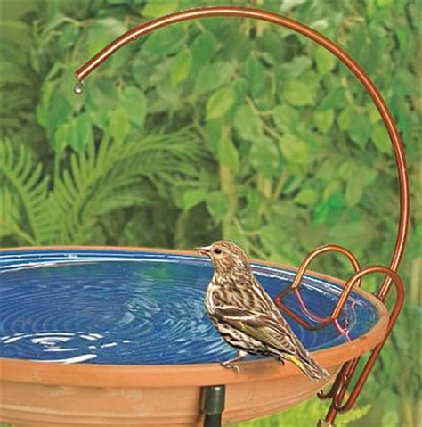universal copper bird bath dripper copper birdbath