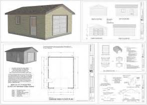 garage construction plans g563 18 x 22 x 8 garage plans in pdf and dwg sds plans
