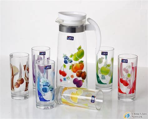 Printed Glass Cup jesin heat transfer printed glass cups glass tableware