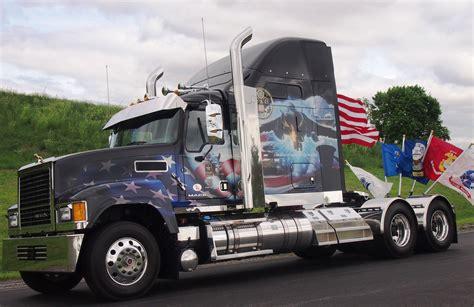 volvo mack honor service members  memorial day tribute trucks