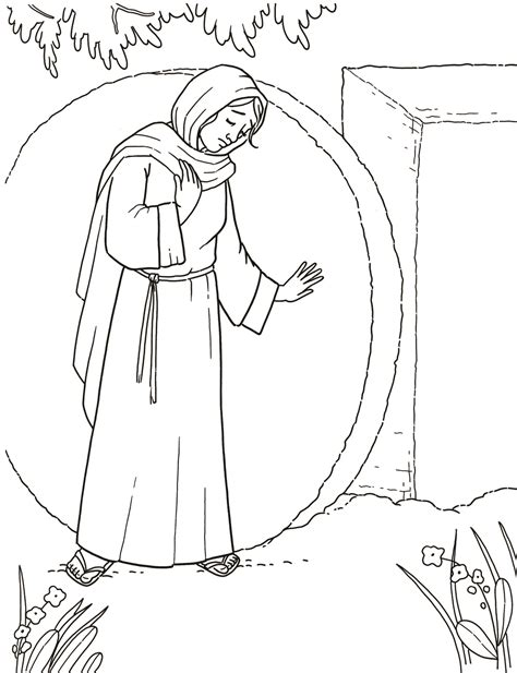 coloring page of jesus tomb primary coloring page mary at the empty tomb lds