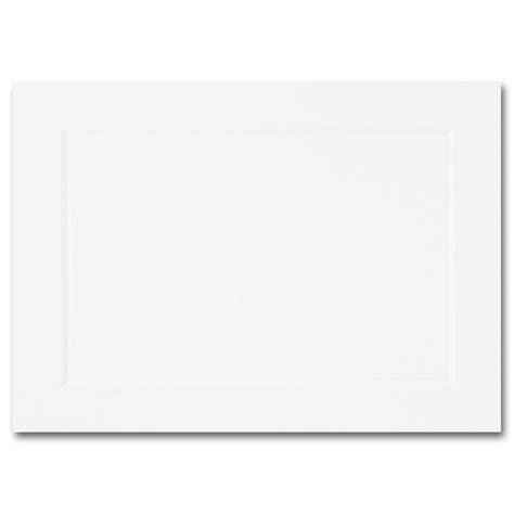 embossed panel card templates 02097 impressions hi white flat panel cards a1 3 1 2 x 4