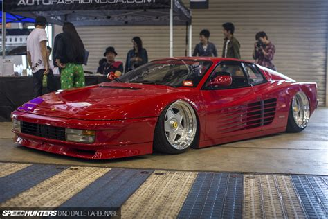 slammed ferrari testarossa the testarossa of wekfest japan speedhunters