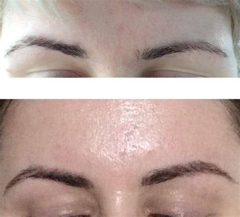 tattoo eyebrows touch up unfiltered and makeup free shots of before and after