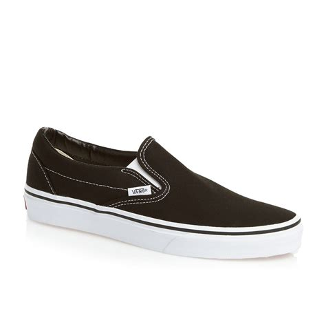 vans classic slip on shoes black free delivery options