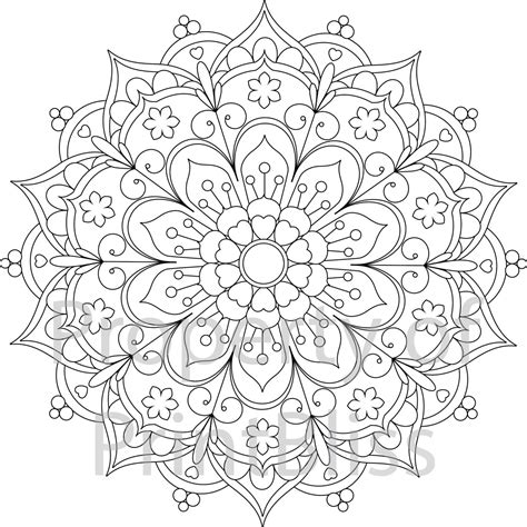 printable mandala coloring pages 25 flower mandala printable coloring page by printbliss