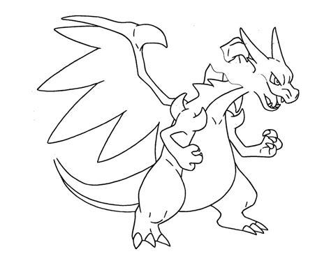 pokemon coloring pages5 mega charizard coloring pages