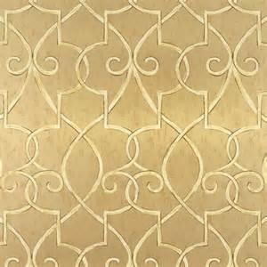 Ralph Lauren Home Decor Fabric hampton lattice wallpaper in metallic gold geometric