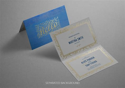Reward Cards Template Mock Up by Photorealistic Invitation Greeting Card Mockup On Behance