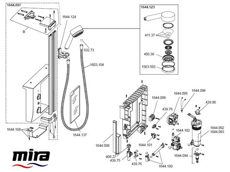 Mira Shower Spare Parts by Mira Elevate Shower Spares And Parts Mira Elevate