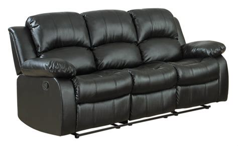 The Best Reclining Sofa Reviews Rotunda Black Faux Faux Leather Reclining Sofa