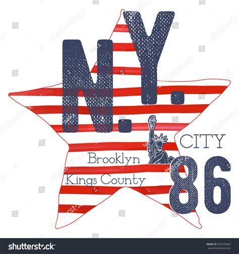 label design nyc tshirt typography design nyc printing graphics stock