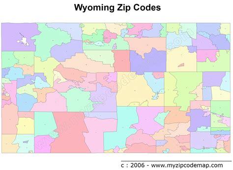 zip code map wyoming wyoming zip code maps free wyoming zip code maps