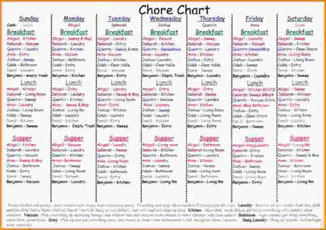 chore chart for adults chore chart jpg letter template word