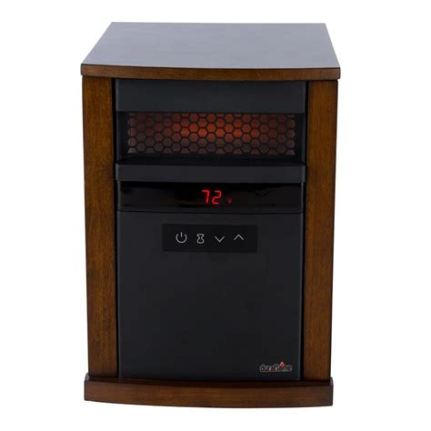 duraflame 5200 btu infrared cabinet electric space heater duraflame 5 200 btu infrared quartz cabinet electric space