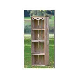 armoire de jardin 60x30x182 en bois prix promo