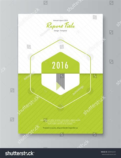 book brochure template hexagon annual report cover design book stock vector