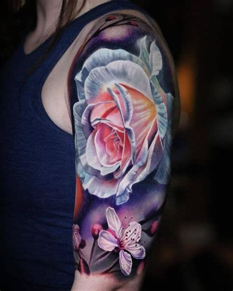 25 best ideas about bright flower tattoos on pinterest