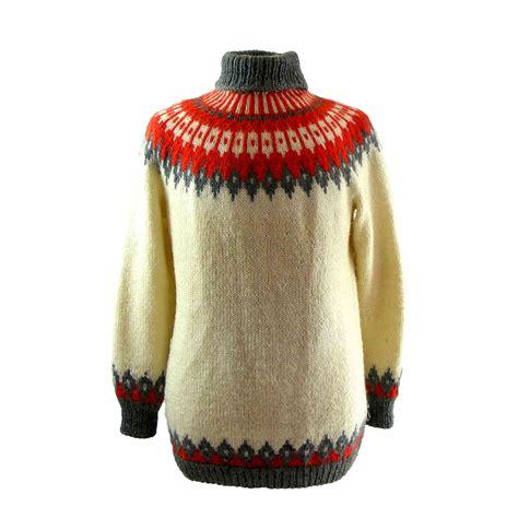 Sweater Retro retro nordic sweater blue 17 vintage fashion