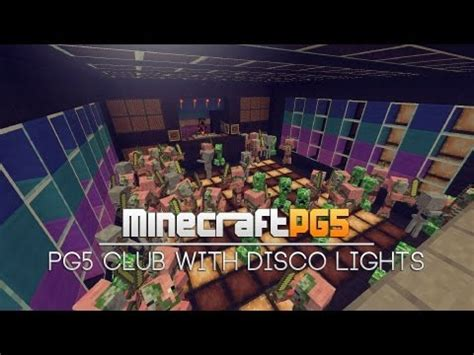 club with pg5 club with disco lights light system minecraft project