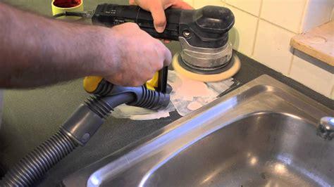 corian polieren reparatie renovatie keukenblad schadeherstel aan