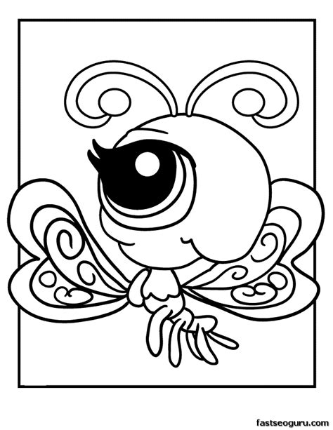 printable coloring pages littlest pet shop printable littlest pet shop coloring page butterfly