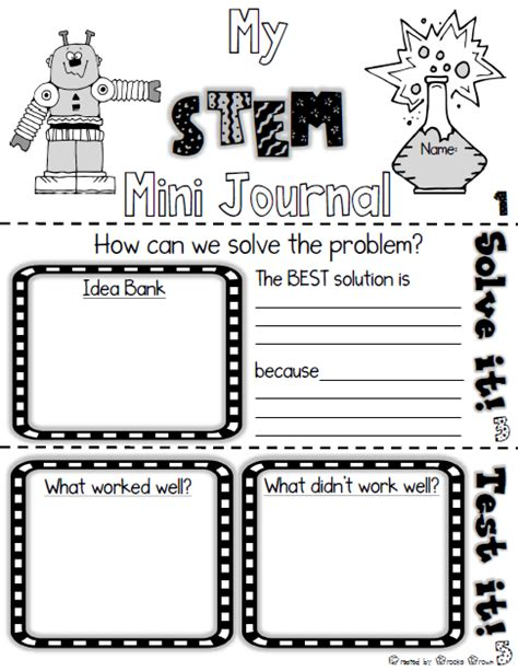engineering design graphics journal free stem mini journal for elementary students use with