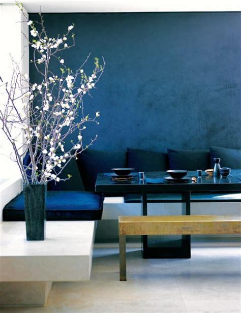 Japanese Home Decor Ideas by Wand Streichen In Farbpalette Der Wandfarbe Blau Freshouse