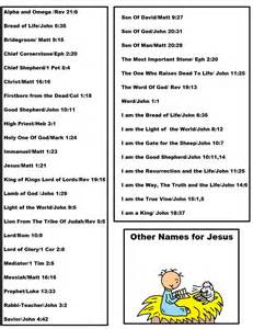 other names for jesus