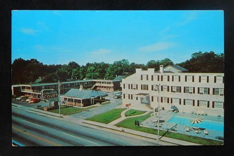 Florence Sc Court Records 1960s Birdseye View Colonial Court Cars Florence Sc Postcard South Carolina Ebay