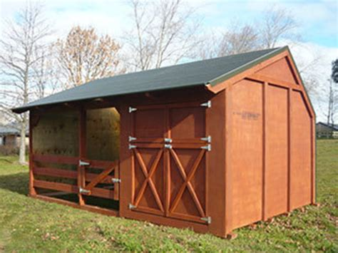 Tack Shed by Shelter With Tack Shed