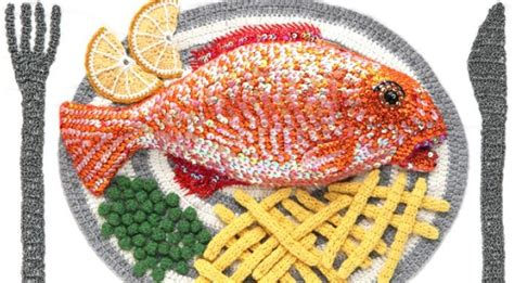 what is food made of stitched fish food made of wool