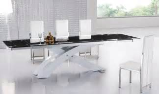 extendable glass top modern furniture table set modern