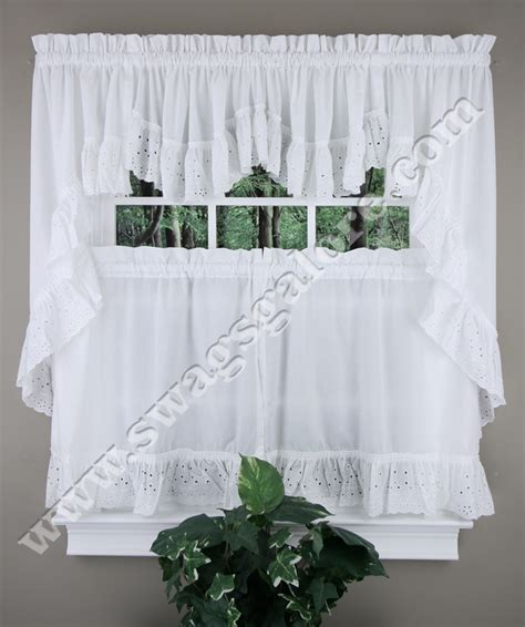 vienna curtains vienna embroidered eyelet ruffled curtains united cafe