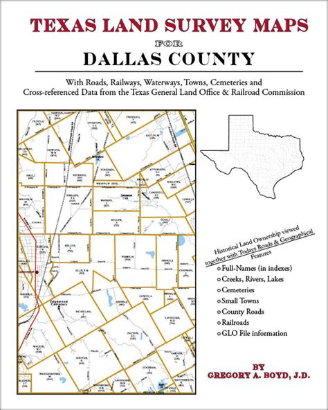 Dallas County Tx Search Dallas County Land Survey Maps Genealogy History 1420351834 Ebay