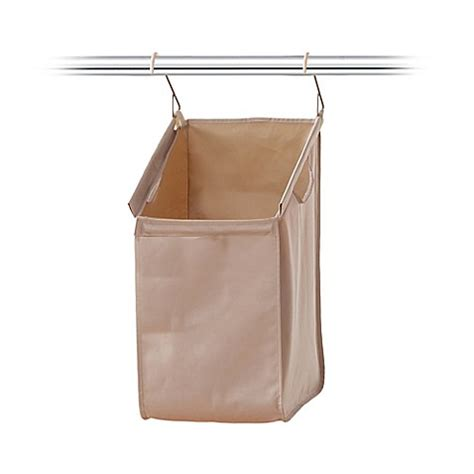 Closetmax 174 System Hanging Laundry Her In Taupe Bed Hanging Laundry