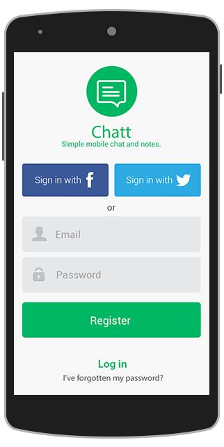 chat app design template for android java binpress