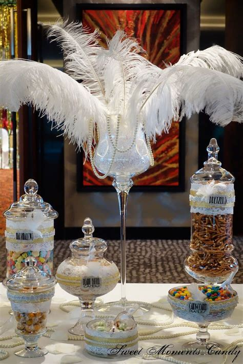 great gatsby themed wedding reception   Great Gatsby Candy