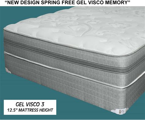 Visco Memory Foam Gel Visco Memory Foam Mattress Set Mcallen Furniture