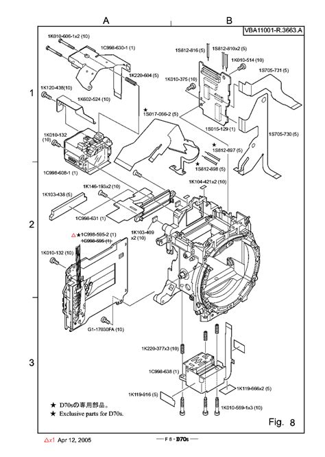 Nikon D70s Parts Rev Page Service Manual Download