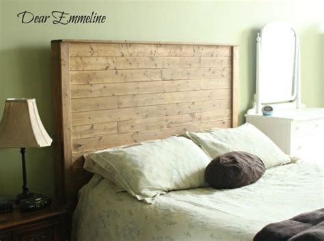 wood headboard diy 13 diy headboards made from repurposed wood